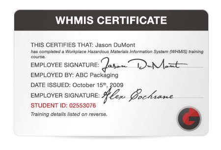 Whmis certificate template 28 images capital district health image gallery whmis certificate yadclub Images